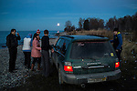 A group of Russians hold a party on the shore of Lake Baikal on Saturday, October 19, 2013 in Baikalsk, Russia.