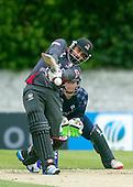 ICC World T20 Qualifier - GROUP B MATCH - SCOTLAND V UAE at Grange CC, Edinburgh - UAE bat hits out — credit @ICC/Donald MacLeod - 09.07.15 - 07702 319 738 -clanmacleod@btinternet.com - www.donald-macleod.com