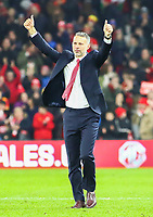 19th November 2019; Cardiff City Stadium, Cardiff, Glamorgan, Wales; European Championships 2020 Qualifiers, Wales versus Hungary; Ryan Giggs, Manager of Wales celebrates the qualification to Euro 2020 - Editorial Use