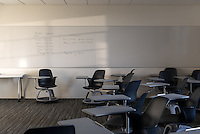 Classroom in Johnson Hall, Sept. 25, 2013. (Photo by Marc Campos, Occidental College Photographer)