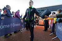 George Byers of Swansea City arrives prior to the game during the Sky Bet Championship match between Swansea City and Cardiff City at the Liberty Stadium, Swansea, Wales, UK. Sunday 27 October 2019
