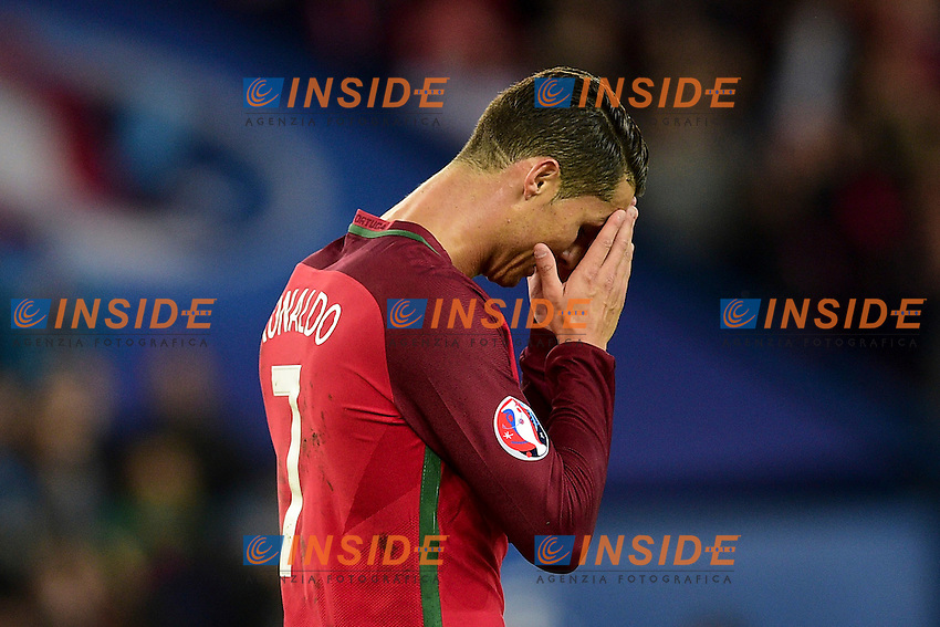 Delusione Cristiano Ronaldo Rigore sbagliato <br /> Dejection of Cristiano Ronaldo after a penalty failed <br /> Paris 18-06-2016 Parc Des Princes Football Euro2016 Portugal - Austria / Portogallo - Austria Group Stage Group F. Foto JB Autissier / Panoramic / Insidefoto