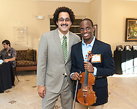 Kevin Wiggins '14, violin.<br />