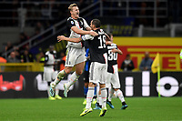 Matthijs de Ligt and Leonardo Bonucci of Juventus celebrate the victory at the end of the match <br /> Milano 6-10-2019 Stadio Giuseppe Meazza <br /> Football Serie A 2019/2020 <br /> FC Internazionale - Juventus FC <br /> Photo Andrea Staccioli / Insidefoto