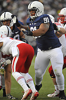 23 November 2013:  Penn State DT DaQuan Jones (91). The Nebraska Cornhuskers defeated the Penn State Nittany Lions 23-20 in overtime at Beaver Stadium in State College, PA.