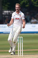 Paul Walter of Essex celebrates taking the wicket of Sam Hain during Essex CCC vs Warwickshire CCC, Specsavers County Championship Division 1 Cricket at The Cloudfm County Ground on 21st June 2017