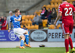 St Johnstone v Aberdeen...23.08.14  SPFL<br /> Birthday boy Steven MacLean scores the only goal of the game<br /> Picture by Graeme Hart.<br /> Copyright Perthshire Picture Agency<br /> Tel: 01738 623350  Mobile: 07990 594431