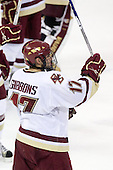 Brian Gibbons (BC - 17) - The Boston College Eagles defeated the Northeastern University Huskies 5-1 on Saturday, November 7, 2009, at Conte Forum in Chestnut Hill, Massachusetts.