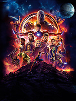Avengers: Infinity War (2018)<br /> Promotional art with Chris Hemsworth, Dave Bautista, Chris Pratt, Danai Gurira, Elizabeth Olsen, Letitia Wright, Paul Bettany, Anthony Mackie, Chris Evans, Scarlett Johansson, Mark Ruffalo, Josh Brolin, Don Cheadle, Sebastian Stan, Benedict Cumberbatch, Chadwick Boseman, Pom Klementieff, Benedict Wong, Karen Gillan, Zoe Saldana, Robert Downey Jr. &amp; Tom Holland<br /> *Filmstill - Editorial Use Only*<br /> CAP/PLF<br /> Image supplied by Capital Pictures