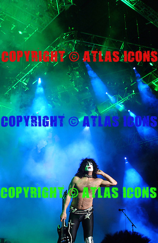 Paul Stanley of, Kiss Performs Performs At Madison Square Garden, In New York City, On .November 17, 2003.Photo Credit: Eddie Malluk/Atlas Icons.com