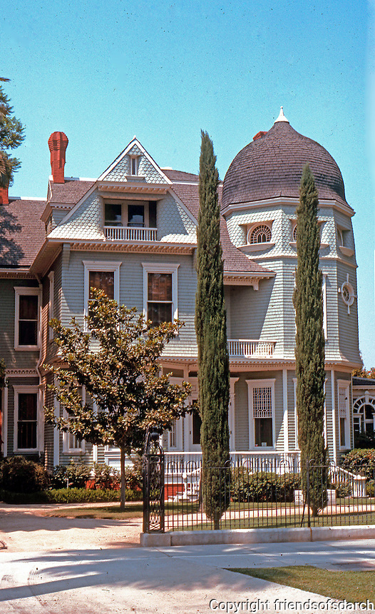 "Riverside CA: ""Heritage House"", 1891. John H. Walls, Architect, not of Morgan-Walls-Clements.  Photo '89."