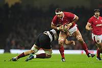 Wales Aaron Shingler in action during the International friendly match between Wales and Barbarians at the Principality Stadium in Cardiff, Wales, UK. Saturday 30 November 2019.