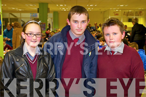 Students from Kilconley Primary School, Ballybunion who took part in the Primary School's Quiz on Thursday evening in the IT South Campus were Lily Belle Beauseigneur, Michael Kennelly and David Hennessey.