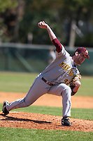February 28, 2010:  Pitcher Scott Matyas of the Minnesota Golden Gophers during the Big East/Big 10 Challenge at Raymond Naimoli Complex in St. Petersburg, FL.  Photo By Mike Janes/Four Seam Images