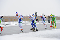 MARATHONSCHAATSEN: ELBURG: Veluwemeer, 25-01-2013, Schaatsseizoen 2012-2013, KPN NK Marathon Natuurijs, ©foto Martin de Jong