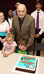 Charles Strouse with grandchildren celebrating his 90th Birthday during the Children's Theatre of Cincinnati presentation for composer Charles Strouse of 'Superman The Musical' at Ripley Grier Studios on June 8, 2018 in New York City.