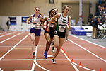NAPERVILLE, IL - MARCH 11:  Maddison<br /> Zimmer of Illinois Wesleyan University takes the lead during the 400 meter dash at the Division III Men&rsquo;s and Women&rsquo;s Indoor Track and Field Championship held at the Res/Rec Center on the North Central College campus on March 11, 2017 in Naperville, Illinois. (Photo by Steve Woltmann/NCAA Photos via Getty Images)