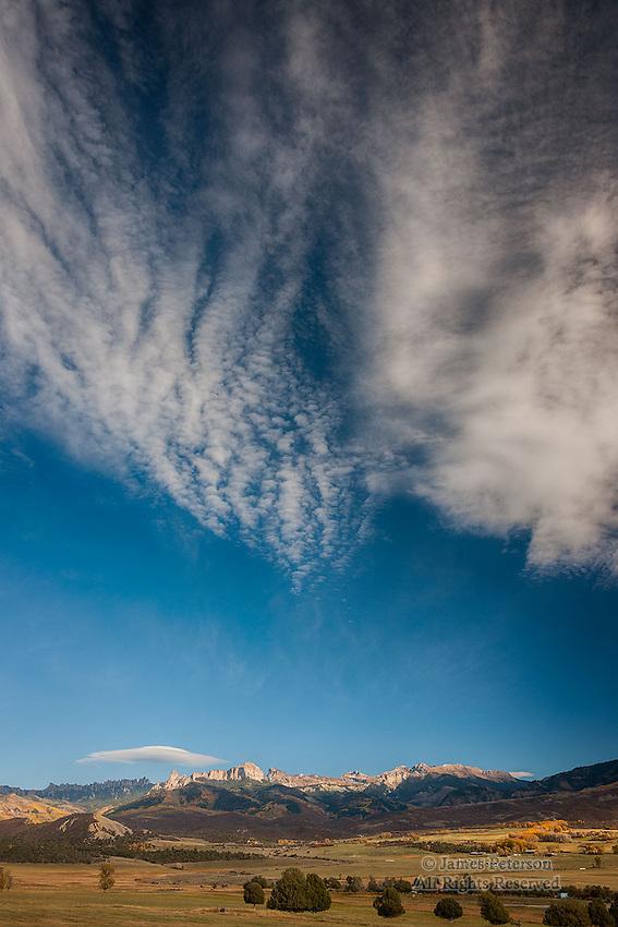Clouds over San Juan Mountains, Colorado