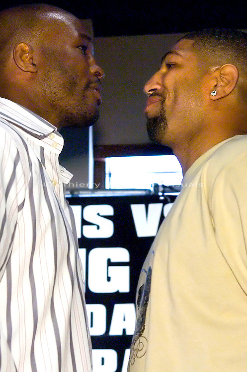 ESPN Zone , NYC, 05.15.07: Bernard Hopkins and Winky Wright face off at the press conference to promote their  July 21st fight.