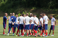 Atlanta, Georgia - July 21, 2015: The USMNT press conference and training in preparation for their Semifinal match versus Jamaica at Georgia State.