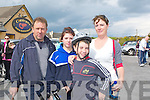 PREPARATION: The Kelly family from fenit getting ready for the 10k nFenit walk for the Kerry Hospice Foundation on Friday. L-r; Johnny ,Amy  ,Christopher and Sheila Kelly...