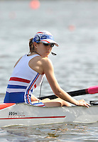 Poznan, POLAND,  GBR LTAMix4+,  cox Rhiannon JONES, competing in the heats of the Legs, Trunk and Arms mixed coxed four, on the Second day of the, 2009 FISA World Rowing Championships. held on the Malta Rowing lake, Monday 24/08/2009 [Mandatory Credit. Peter Spurrier/Intersport Images]