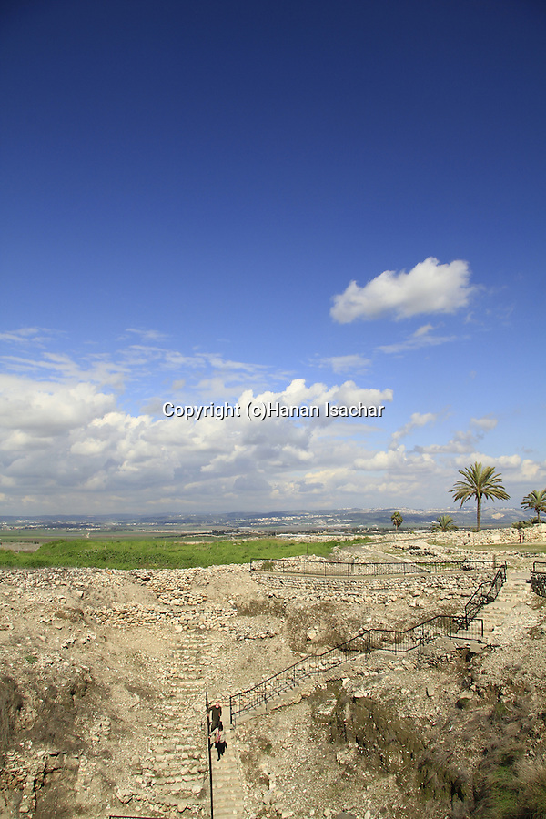 The shaft of the water system in Tel Megiddo, made during the period of the Kinks of Israel about 1000 years B.C.