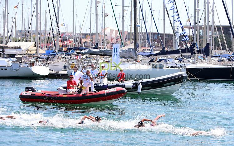 PICTURE BY VAUGHN RIDLEY/SWPIX.COM - Open Water - 15th FINA World Championships 2013 - Moll de la Fusta, Barcelona, Spain - 23/07/13 - Great Britain's Keri-Anne Payne competes in the Women's 10km.