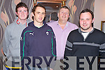 Pictured at the Fossa Coiste na nO?g quiz held in the Old Killarney Inn, Aghadoe on Friday night were Tadgh O'Shea, James O'Shea, Donald O'Sullivan and Colin Myers.