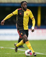 Emmanuel Adebiyi of Watford u23 during the Professional Development League match between Watford U23 and Ipswich Town U23 at Clarence Park, St Albans, England on 4 November 2019. Photo by Andy Rowland.