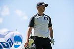 SUGAR GROVE, IL - MAY 31: Wyndham Clark of the University of Oregon prepares to tee off during the Division I Men's Golf Team Championship held at Rich Harvest Farms on May 31, 2017 in Sugar Grove, Illinois. (Photo by Jamie Schwaberow/NCAA Photos via Getty Images)