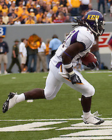 East Carolina wide receiver Dwayne Harris. The WVU Mountaineers defeated the East Carolina Pirates 35-20 at Mountaineer Field at Milan Puskar Stadium, Morgantown, West Virginia on September 12, 2009.