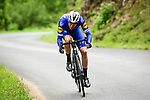 Rémi Cavagna (FRA) Deceuninck-Quick Step part of the 14 man breakaway group during Stage 2 of the Criterium du Dauphine 2019, running 180km from Mauriac to Craponne-sur-Arzon, France. 9th June 2019<br /> Picture: ASO/Alex Broadway | Cyclefile<br /> All photos usage must carry mandatory copyright credit (© Cyclefile | ASO/Alex Broadway)