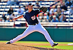 4 March 2009: Washington Nationals' pitcher Garrett Mock on the mound during a Spring Training game against the New York Mets at Space Coast Stadium in Viera, Florida. The Nationals rallied to defeat the Mets 6-4 . Mandatory Photo Credit: Ed Wolfstein Photo