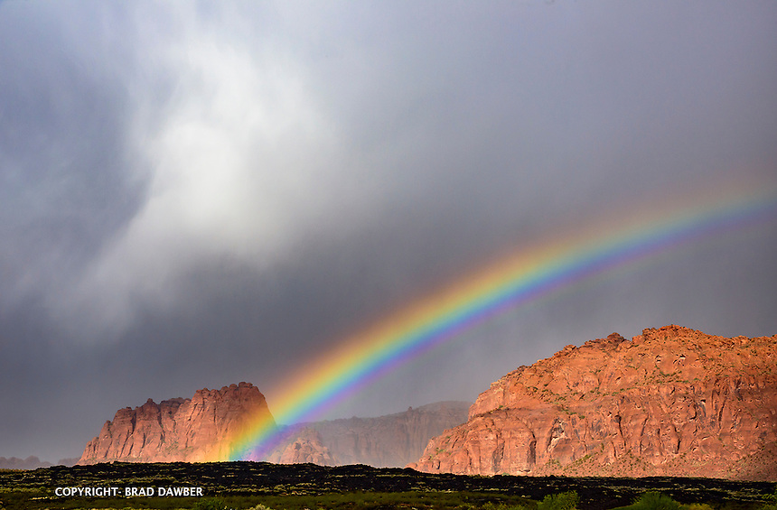 Afternoon rainbow looking up Snow Canyon Nov. 10, 2015 SNOW CANYON STATE PARK- IVINS- ST. GEORGE, UTAH