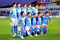Jubilo Iwata team group line-up, JUNE 15th, 2011 - Football : Jubilo Iwata team group shot (Top row - L to R) Yuki Kobayashi, Ryoichi Maeda, Daisuke Nasu, Kenichi Kaga, Yoshiaki Fujita, Yoshikatsu Kawaguchi, (Bottom row - L to R) Hiroki Yamada, Yuichi Komao, Gilsinho, Park Joo Ho and Hidetaka Kanazono before the 2011 J.League Division 1 match between Kashiwa Reysol 0-3 Jubilo Iwata at Hitachi Kashiwa Soccer Stadium in Chiba, Japan. (Photo by AFLO)