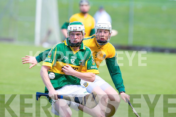 Kerry's Daniel Collins and Meath's Sean McGee.