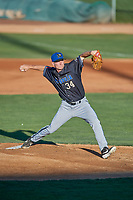 Missoula Osprey starting pitcher Josh McMinn (34) delivers a pitch to the plate against the Ogden Raptors at Lindquist Field on August 12, 2019 in Ogden, Utah. The Raptors defeated the Osprey 4-3. (Stephen Smith/Four Seam Images)