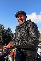 reitender Hirte im  Kirgisischen Alatau bei Ala Archa, Kirgistan, Asien<br /> riding shepherd in the Kirgisian Alatau mountains near Ala Archa, Kirgistan, Asia