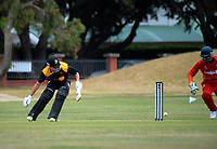 Action from the Under-19 World Cup warm-up cricket match between Wellington XI and Zimbabwe Under-19s at the Scots College in Wellington, New Zealand on Sunday, 31 December 2017. Photo: Dave Lintott / lintottphoto.co.nz