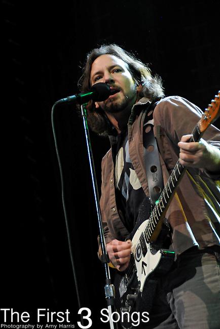 Eddie Vedder of Pearl Jam performs at Nationwide Arena in Columbus, Ohio on May 6, 2010.
