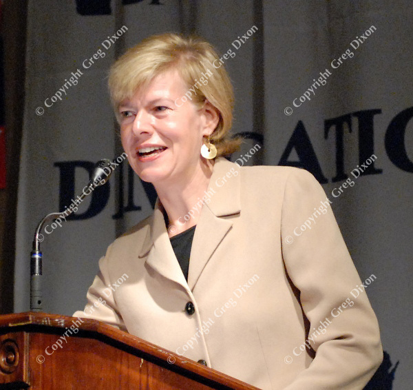 U.S. Representative Tammy Baldwin addresses the Eleanor Roosevelt Tribute on Tuesday