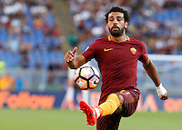 Calcio, Serie A: Roma vs Udinese. Roma, stadio Olimpico, 20 agosto 2016.<br /> Roma&rsquo;s Mohamed Salah controls the ball during the Italian Serie A football match between Roma and Udinese at Rome's Olympic stadium, 20 August 2016. Roma won 4-0.<br /> UPDATE IMAGES PRESS/Riccardo De Luca
