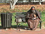 Homeless person with his cart of belonging, homeless, Homeless person Washington DC, Fine art photography by Ron Bennett ©. Copyright, Washington DC, Fine Art Photography by Ron Bennett, Fine Art, Fine Art photo, Art Photography,
