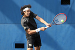 22 March 2015: Wake Forest Skander Mansouri (TUN). The Duke University Blue Devils hosted the Wake Forest University Demon Deacons at Ambler Stadium in Durham, North Carolina in a 2014-15 NCAA Division I Men's Tennis match. Duke won the match 4-3.