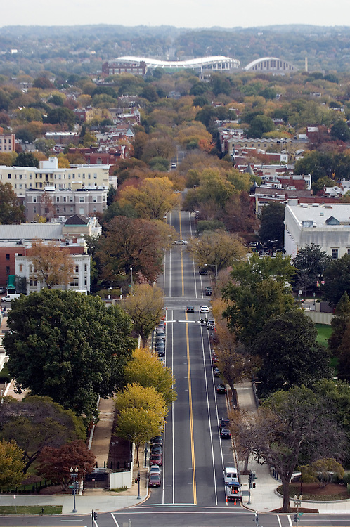 East Capitol Street as seen from the top of the Capitol dome.
