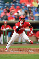 Philadelphia Phillies outfielder Odubel Herrera (37) during a Spring Training game against the New York Yankees on March 27, 2015 at Bright House Field in Clearwater, Florida.  New York defeated Philadelphia 10-0.  (Mike Janes/Four Seam Images)