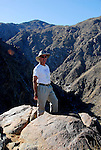Hiker above Tahquitz Canyon in Palm Springs