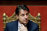 Giuseppe Conte<br /> Roma 05/06/2018. Senato. Voto di fiducia al nuovo Governo.<br /> Rome 5th of June. senate. Trust vote for the new Government<br /> Foto Samantha Zucchi Insidefoto