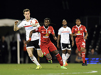 Blackburn Rovers' Marvin Emnes battles for possession with Fulham's Kevin McDonald<br /> <br /> Photographer /Ashley WesternCameraSport<br /> <br /> The EFL Sky Bet Championship - Fulham v Blackburn Rovers - Tuesday 14th March 2017 - Craven Cottage - London<br /> <br /> World Copyright &copy; 2017 CameraSport. All rights reserved. 43 Linden Ave. Countesthorpe. Leicester. England. LE8 5PG - Tel: +44 (0) 116 277 4147 - admin@camerasport.com - www.camerasport.com